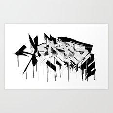graffiti - AR3 Art Print