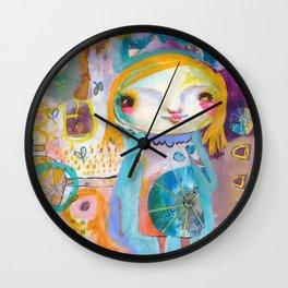 Moon Face Wall Clock