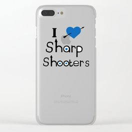 I Love Sharp Shooters Clear iPhone Case