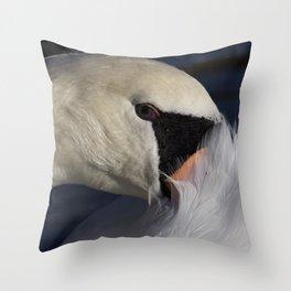 The Shy Swan Throw Pillow