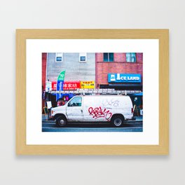 Graffiti Van Framed Art Print