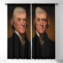 Official Presidential portrait of Thomas Jefferson Blackout Curtain