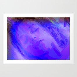 is an teanga a muscle cumhachtach Art Print