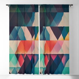 Geometric Abstract: jyst ynyff Blackout Curtain