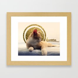 Kitten Kween Framed Art Print
