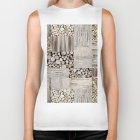 wood Biker Tanks featuring Wood by LebensART