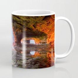Sea Cave Sunset on Lake Superior Coffee Mug