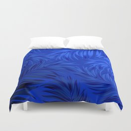 Palm Tree Fronds Brilliant Blue on Blue Hawaii Tropical Décor Duvet Cover