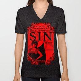 Sin Poster Unisex V-Neck