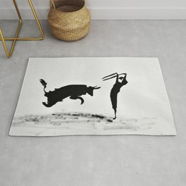 Bulls and bullfighters of Picasso II Rug