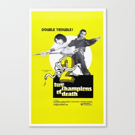 Vintage Film Poster- Two Champions of Death (1980) Canvas Print