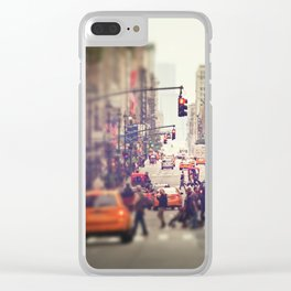 Down the Avenue Clear iPhone Case