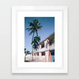 Motel Palms Framed Art Print