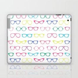 Retro Vintage Nerdy Glasses Pattern Laptop & iPad Skin