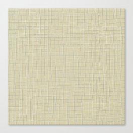 Grey threads on yellow ochre Canvas Print