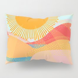 Sunset On Hills and Sea  Pillow Sham