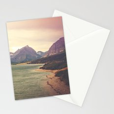 Retro Mountain Lake Stationery Cards