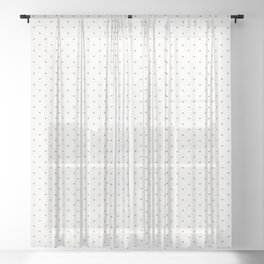 Minimal Gold Polka Dots Sheer Curtain