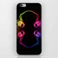 headphones iPhone & iPod Skins featuring Headphones by Steve Purnell