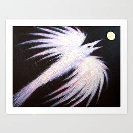 Ice Raven Art Print