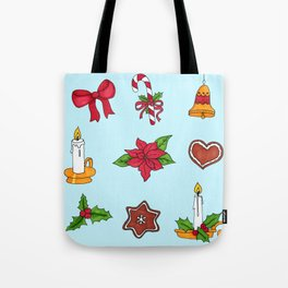 Christmas pattern (#2 blue) Tote Bag