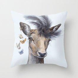 Fashion deer Throw Pillow