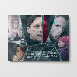 Black Mirror White Christmas Metal Print