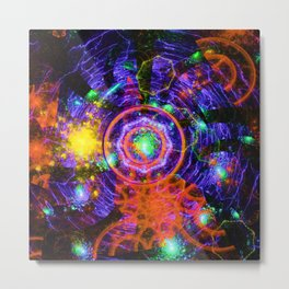 Waves and flashes of distant sun Metal Print