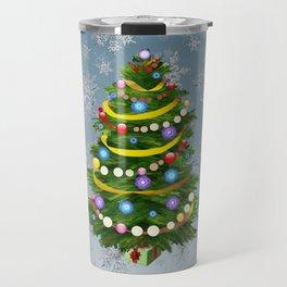 Christmas tree & snow Travel Mug