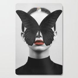 BLACK BUTTERFLY Cutting Board