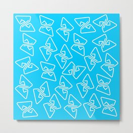 Blue Party Metal Print