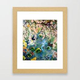 Japanese Koi Fish Pond Framed Art Print