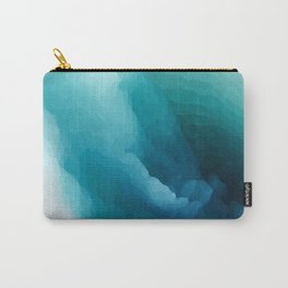 """Inner Calm"" Turquoise Modern Contemporary Abstract Carry-All Pouch"
