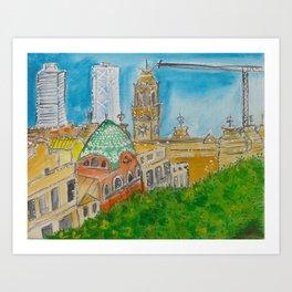 Vistas de Barcelona Art Print