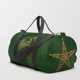 Hunter and Gold Celtic Duffle Bag
