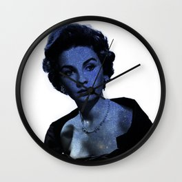 Jean Simmons Stars Collage Wall Clock