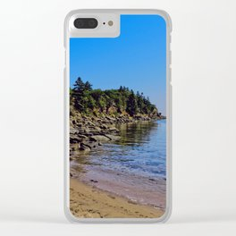 Rocky Coastline Clear iPhone Case