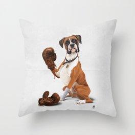 The Boxer (Wordless) Throw Pillow