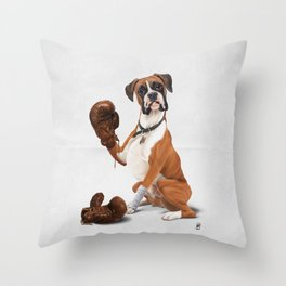 The Boxer (Wordless) Throw Pillow
