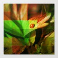 ladybug Canvas Prints featuring Ladybug  by SensualPatterns