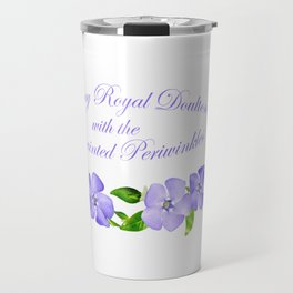 This is my Royal Doulton with Hand Painted Periwinkles Travel Mug