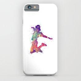 Hip-Hop Girl 2 Art  Colorful Purple Watercolor Art Rap Music Gift Dance Art Party Gifts iPhone Case