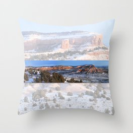 Wintery Wyoming Red-bed  Throw Pillow