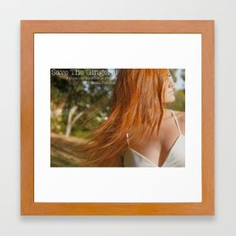 Save the Gingers #2 Framed Art Print
