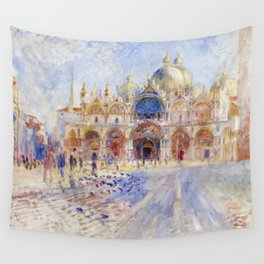 Pierre Auguste Renoir - The Piazza San Marco, Venice Wall Tapestry