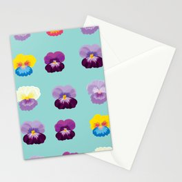 Pansy Flowers Stationery Cards