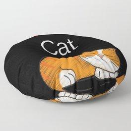 I Love My Cat Floor Pillow