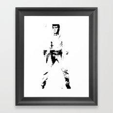 FPJ black and white Framed Art Print