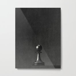 GAME OF THE THRONE / The Black Pawn Metal Print