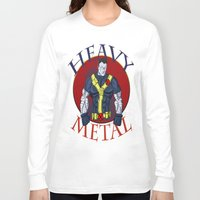 heavy metal Long Sleeve T-shirts featuring Heavy Metal by Iron King